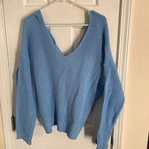 Zaful Sweaters - Zaful Blue Crossback Sweater - Size 3 (NWOT)